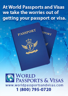 At World Passport and Visas, we take the worries out of getting your passport or visa. 1 (800) 795-0720.