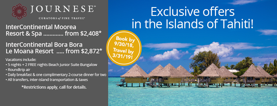 Exclusive Offers in the Islands of Tahiti!