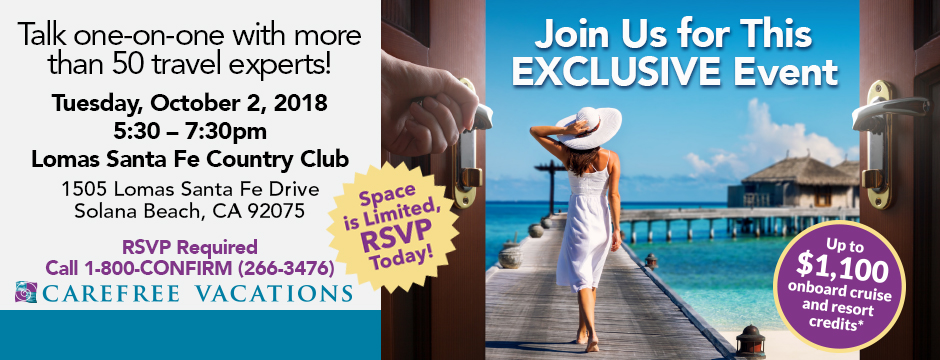 Talk one-on-one with more than 50 travel experts! RSVP Today!
