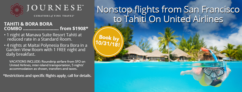 Journese: Nonstop flights from San Francisco to Tahiti on United Airlines