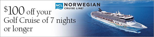 $100 off your Golf Cruise of 7 nights or longer