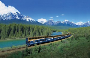 View of the Rocky Mountaineer Train