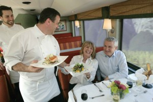 Rocky Mountaineer Gold Leaf Dining