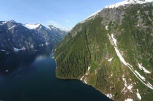 View from Disney Cruise of Juneau, Alaska