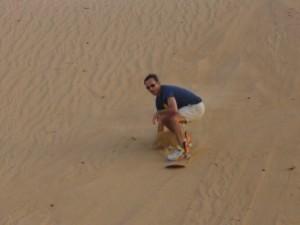 Sand dune boarding