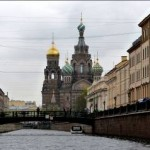Canal view of Church of the Savior on Spilled Blood