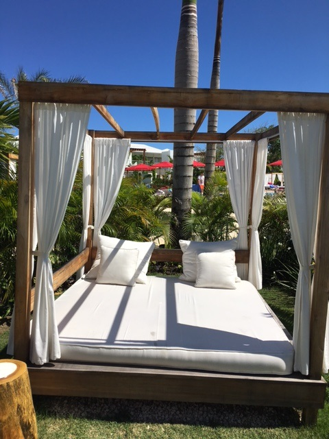 club med zen oasis sunbed outside each room