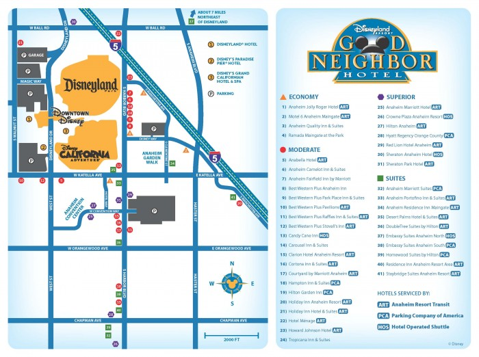 Good Neighbor Hotels Map