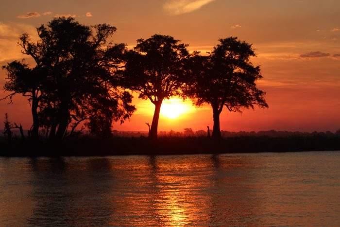 Sunset at Chobe National Park