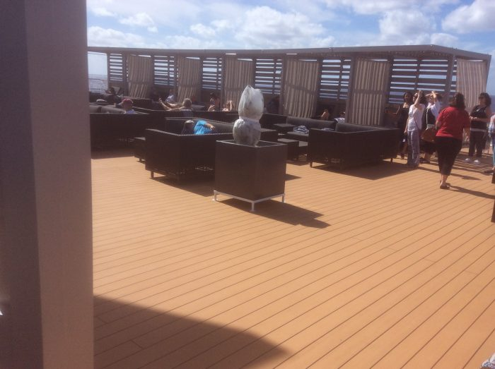 Rooftop lounge on Celebrity Infinity