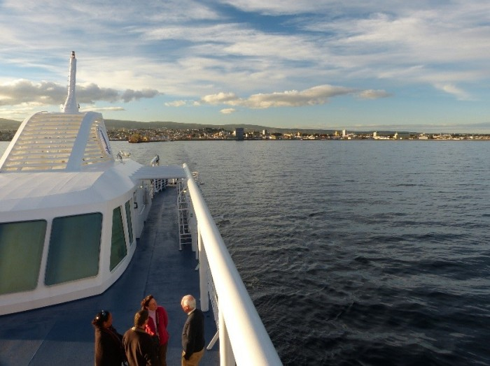 Champagne Departure from Punta Arenas, Chile