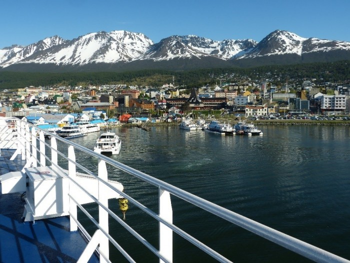 Stella Australis docking at Ushuaia (southern most city in the world)